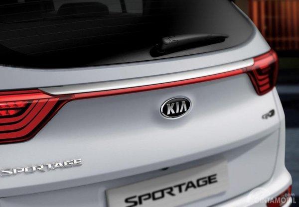 Gambar yang menunjukan tampilan belakang All New Kia Sportage 2018
