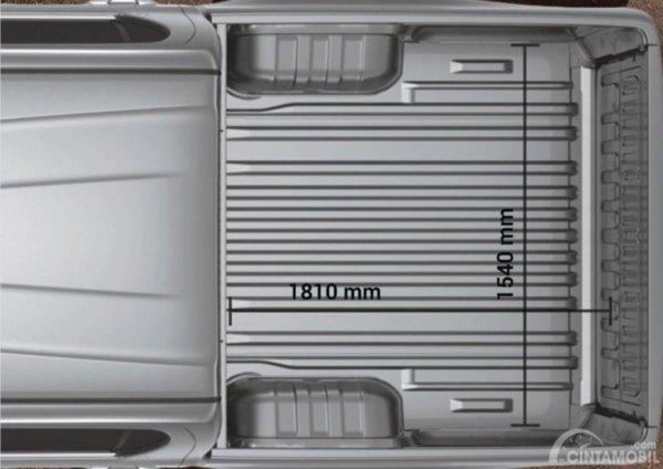 Gambar yang menunjukan tampilan bak Toyota All New Hilux C-Cab 2017