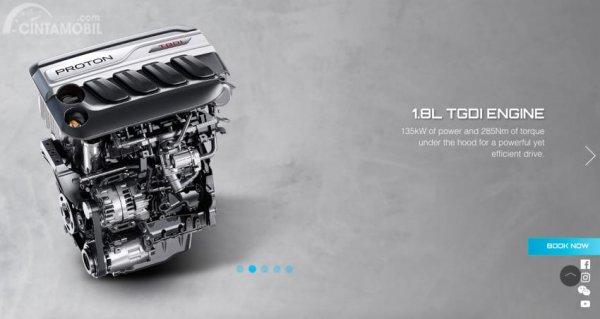 Gambar mesin Proton X70 2019