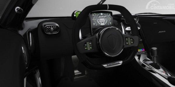 Fitur lainnya bisa ditampilkan melalui layar kecil SmartCluster dibalik setir Koenigsegg Jesko 2019