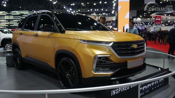 Gambar menunjukkan All New Chevrolet Captiva 2019 di BIMS 2019