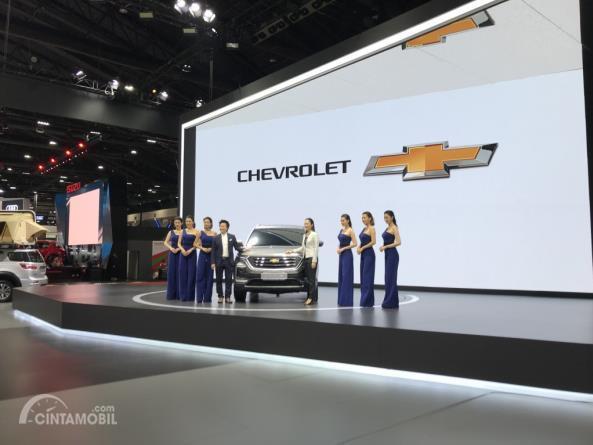 Gambar menunjukkan suasana peluncuran  All New Chevrolet Captiva 2019 di BIMS 2019