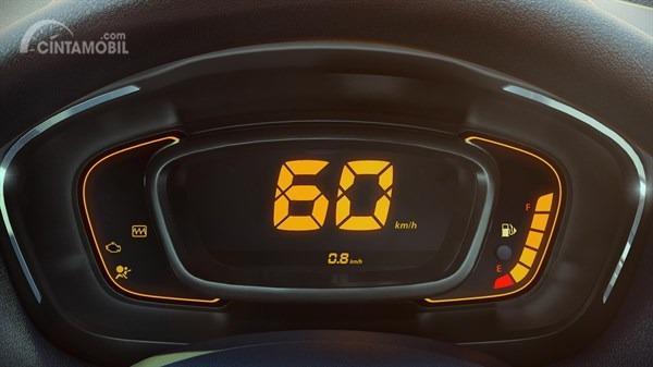 Gambar menunjukkan Digital Spidometer Renault Kwid Icon 2019