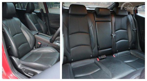 gambar menujukkan desain bagian interior jok Mazda 3 2017