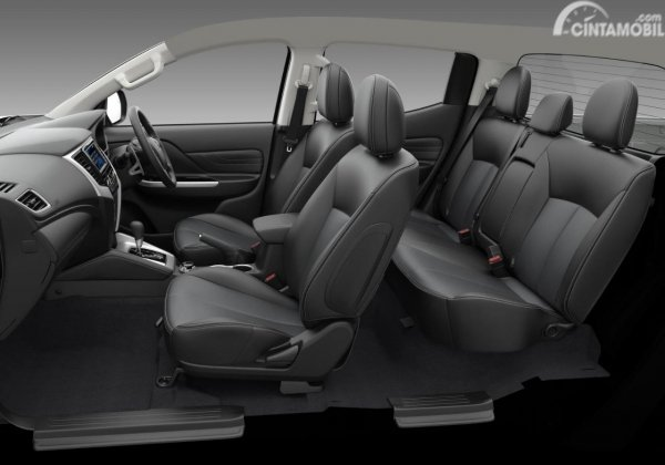 Gambar menunjukkan desain Konvigurasi Jok Mobil Mitsubishi New Triton Ultimate AT Dual Cabin 4WD 2019