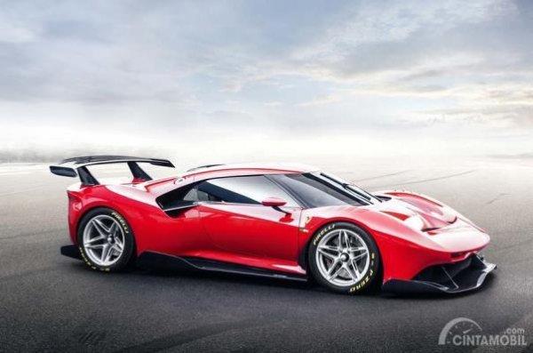 Ferrari P80/C warna merah