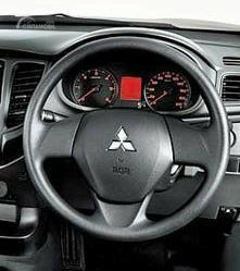 Gambar menunjukkan desain bagian Setir New Mitsubishi Triton GLS MT Dual Cabin 4WD 2019