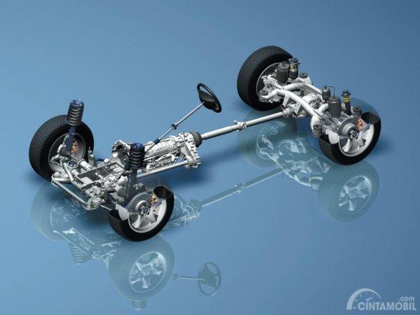 ilustrasi rangka BMW dalam menggunakan sistem BMW xDrive