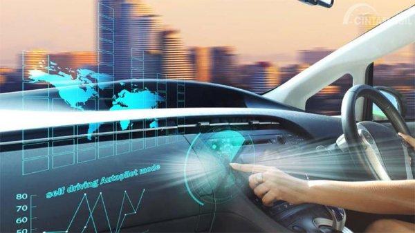 ilustrasi kendaraan swakemudi dalam mobil berbasis 5G