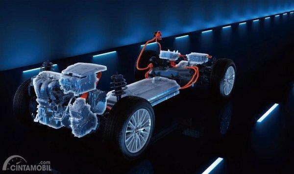 Tampak Mesin Dan Motor Listrik Mitsubishi Outlander PHEV