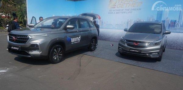 dua mobil dalam peluncuran Wuling Almaz 7-Seater 2019
