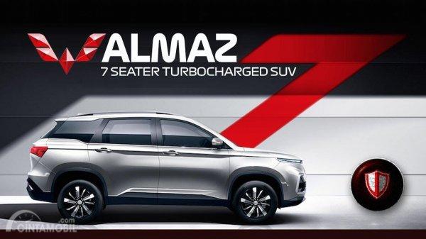 Wuling Almaz 7-Seater 2019 berwarna hitam