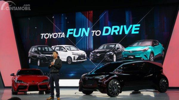 Dua produk Toyota yang diperkenalkan di GIIAS 2019