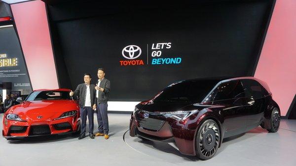 Toyota GR Supra A90 di booth Toyota saaat GIIAS 2019