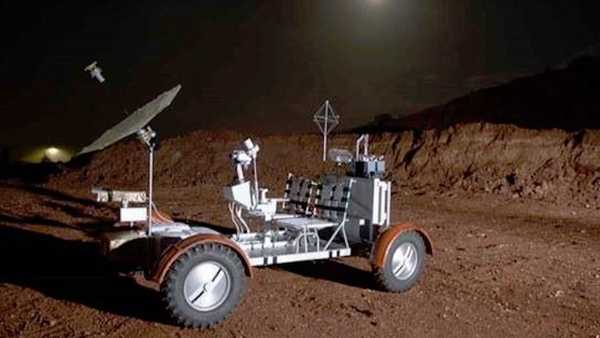 Foto Lunar Rover Vehicle aslinya