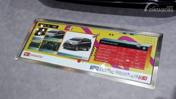 Gambar menunjkkan Highlight pada mobil Daihatsu Ayla SE 2019