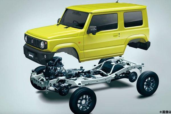 New Suzuki Jimny dengan konstruksi suspensi rigid axle