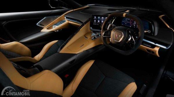 interior Chevrolet Corvette C8 setir kanan
