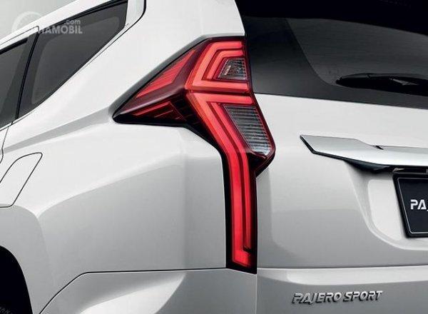 Gambar desain bagian Tailamp Mobil New Mitsubishi Pajero Sport 2019