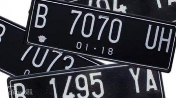 Ilustrasi plat nomor kendaraan bermotor