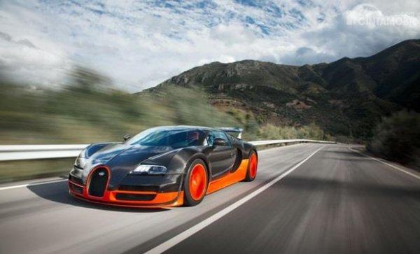Bugatti Veyron 16.4 Super Sport adalah mobil tercepat yang sempat mencatatkan rekor di Guinness World Record