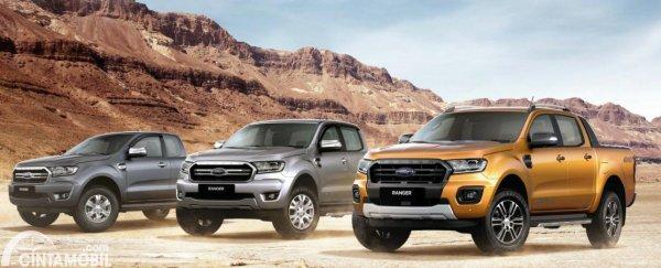 Gambar menunjukkan Ford Ranger 2020 line up