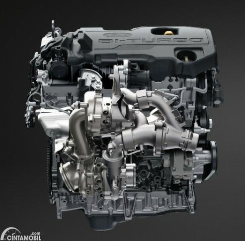 Gambar menunjukkan mesin EcoBlue Panther Ford Raptor 2020