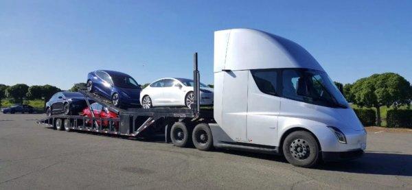 Gambar Tesla Semi Truck