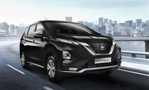 Foto All New Nissan Livina tampak dari samping depan