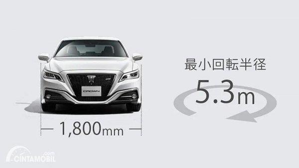 Gambar radius putar Toyota Crown 2021
