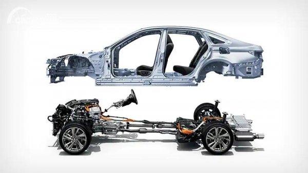 Gambar basis rangka TNGA Toyota Crown 2021