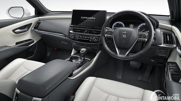 Gambar layout dashboard Toyota Crown 2021