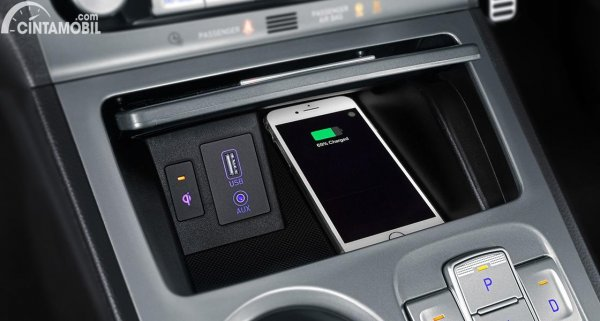 Gambar Wireless Charging KONA Electric 2020
