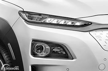 Gambar DRL dan headlamp Hyundai KONA Electric 2020