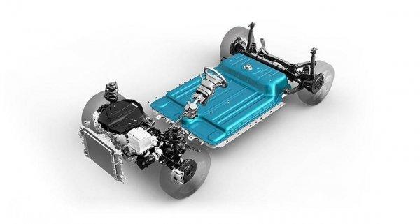 Gambar baterai dan dinamo Hyundai KONA EV