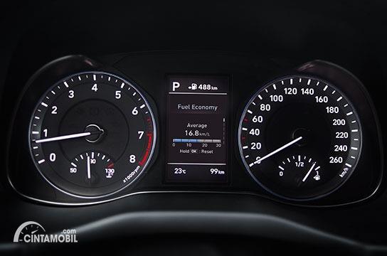 Gambar panel instrumen Hyundai KONA Electric 2020