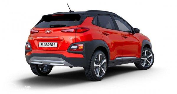 Gambar tampilan belakang Hyundai KONA Facelift 2020
