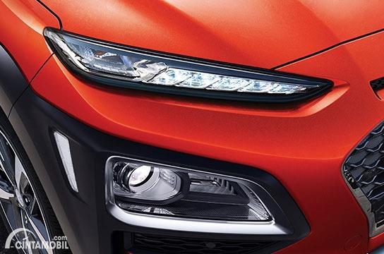 Gambar Daytime Running Light dan headlamp Hyundai KONA Facelift 2020