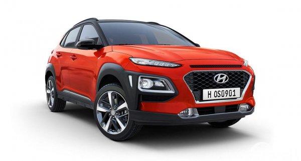 Gambar tampilan depan Hyundai KONA Faceliftt 2020