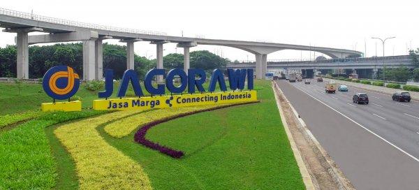 Foto menunjukkan Jalan Tol Jagorawi