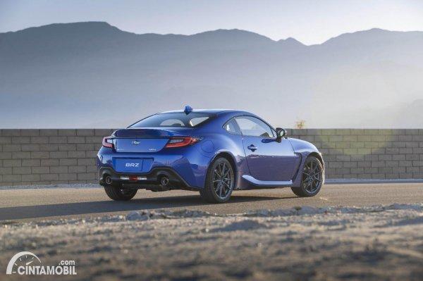 Tampilan belakang Subaru BRZ 2022