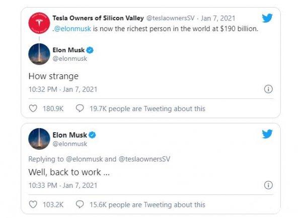 Twitter Elon Musk pada 7 Januari