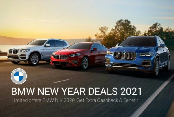 Foto menunjukkan Promo BMW Old Stock