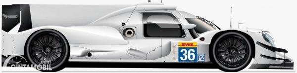 Siluet mobil balap LMP2 yang akan dipakai Sean Gelael
