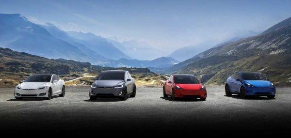 Gambar menunjukan Mobil Tesla