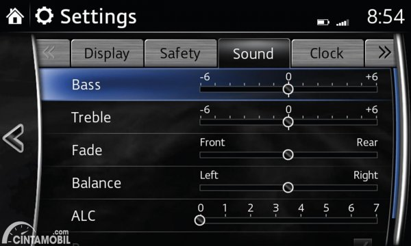 Pengaturan Bass Treble dna Balance Head Unit