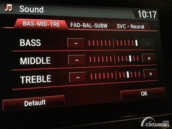 Setting Bass Treble pada Head Unit Mobil