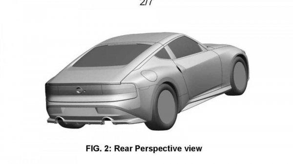 Tampilan belakang paten Nissan Z baru