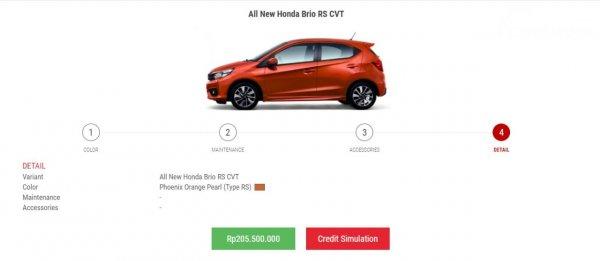 Harga Honda Brio RS CVT
