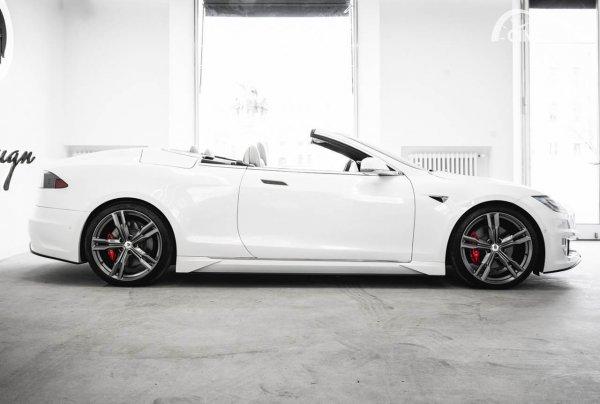 Tesla Model S Convertible ARES Design Modena